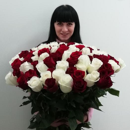 Шикарный букет из 101 розы