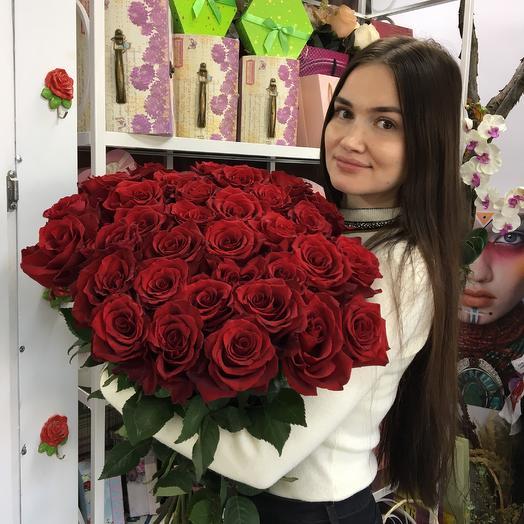 Розы импортные сорт explorer в букете: букеты цветов на заказ Flowwow