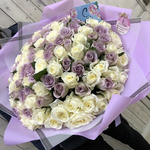 101 самая нежная роза: букеты цветов на заказ Flowwow