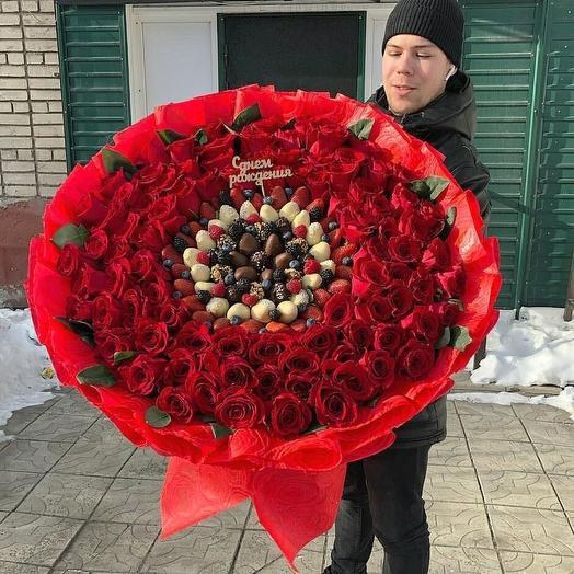 "Букет ""Гигантиссиммо"" из 101 розы"