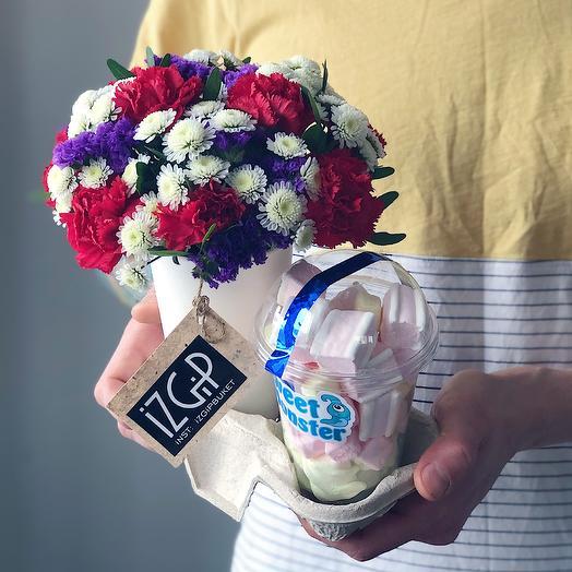 Cup 3 + зефир: букеты цветов на заказ Flowwow