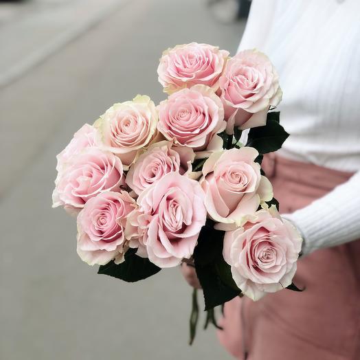 Роза Пинк Мондиаль премиум 11: букеты цветов на заказ Flowwow
