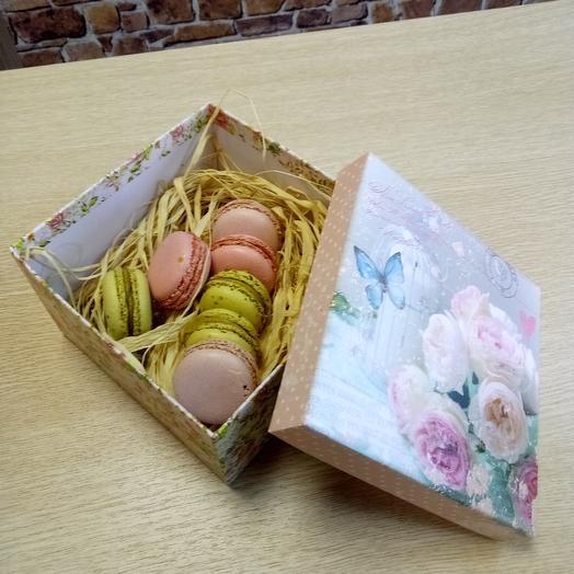 Макароны пирожные, ассорти, 7 шт: букеты цветов на заказ Flowwow