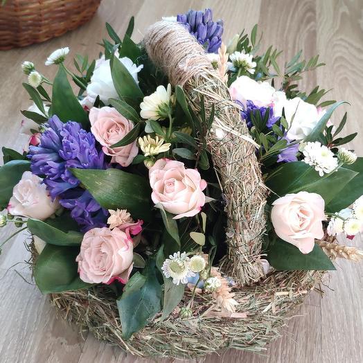 Полевая корзиночка: букеты цветов на заказ Flowwow