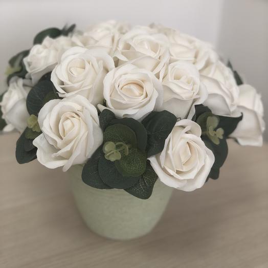 Букет 10 из мыльных цветов: букеты цветов на заказ Flowwow