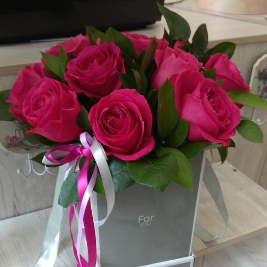Коробка с розой Пинк Флоид для нее: букеты цветов на заказ Flowwow