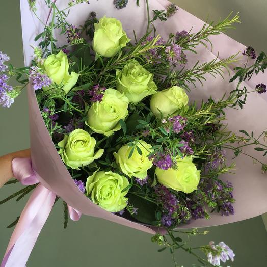Лайм и Лаванда: букеты цветов на заказ Flowwow