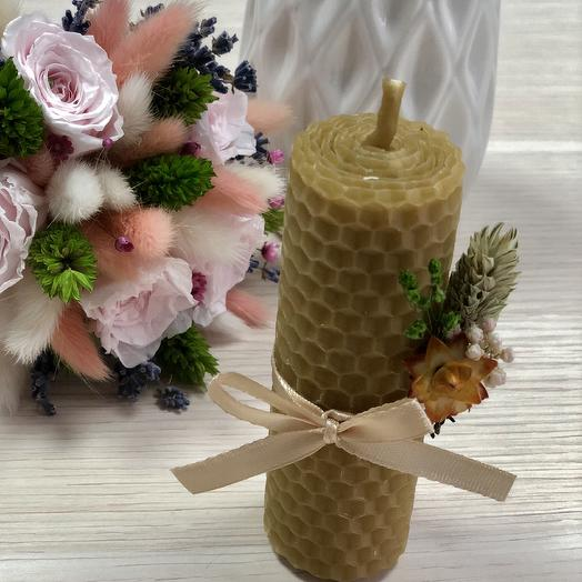 Свеча вощёная: букеты цветов на заказ Flowwow
