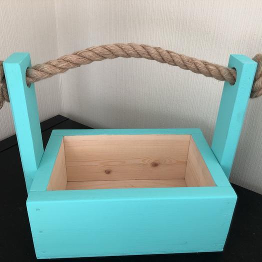 Ящик деревянный для цветочных композиций: букеты цветов на заказ Flowwow