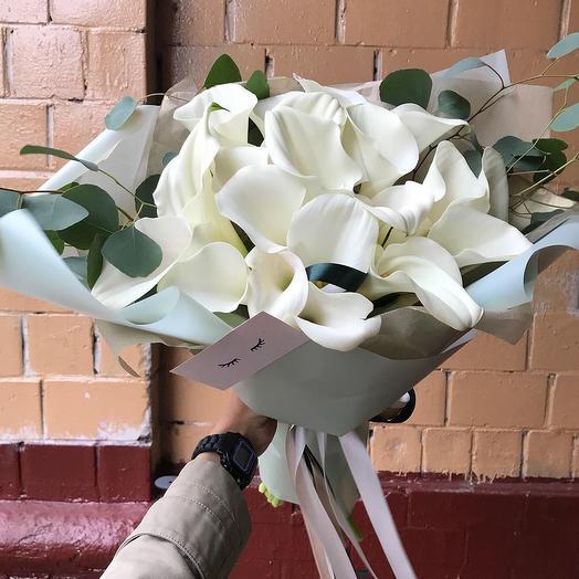 """Букет """"Белые каллы"""": букеты цветов на заказ Flowwow"""