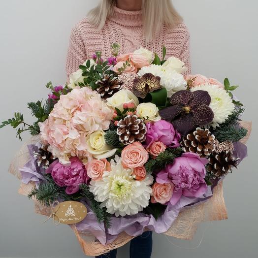Большой зимний букет: букеты цветов на заказ Flowwow