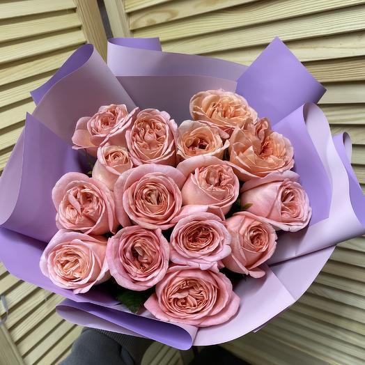 15 роз пионовидных: букеты цветов на заказ Flowwow