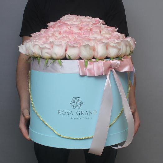 101 эквадорская роза а шляпной коробке: букеты цветов на заказ Flowwow