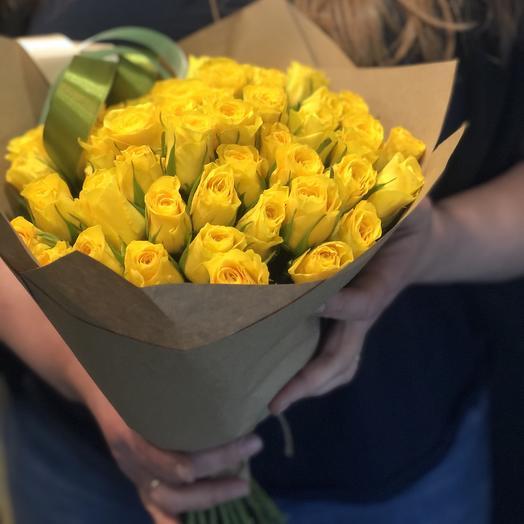 Желтые солнечные розочки 35