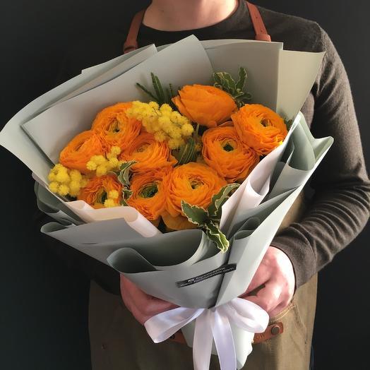 Лютики с ароматной мимозой: букеты цветов на заказ Flowwow