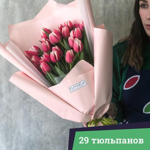 29 тюльпанов: букеты цветов на заказ Flowwow
