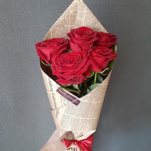 5 роз Эквадор крафте