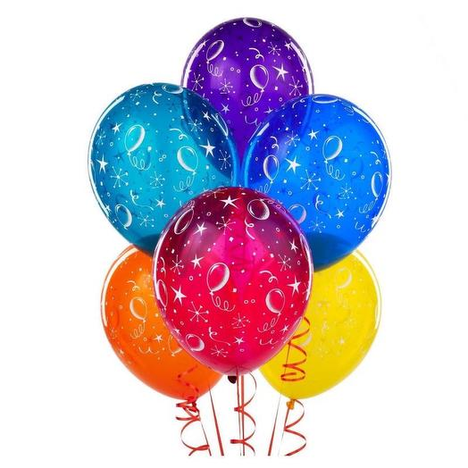Set of 5 helium balloons