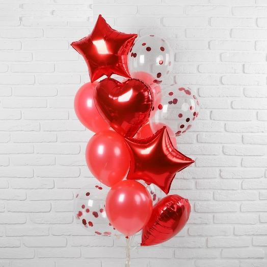 Букет из шаров красный