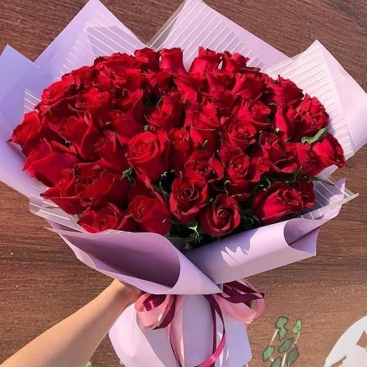Шикарный букет из роз
