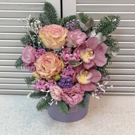 """Цветы в коробке""""Мечта"""""""