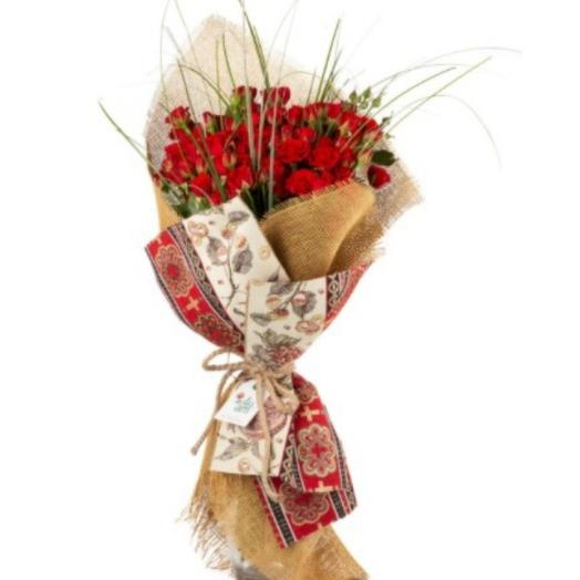 "Bouquet ""Alice Town"" with roses"