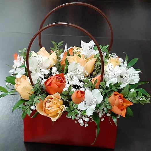 Цветы в сумочке 💐
