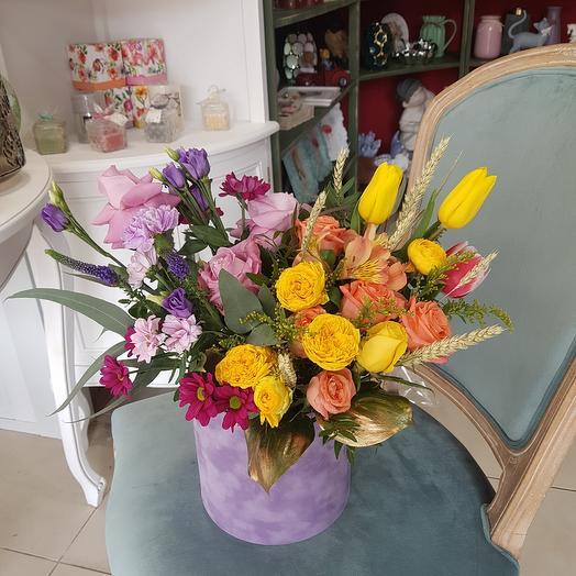 """Цветы в коробке """"Сладость"""""""