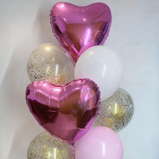Набор шаров с сердцами