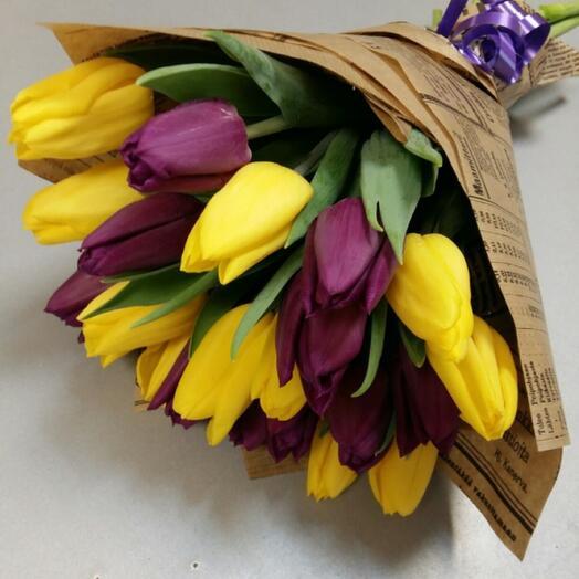 Букет Тюльпанов в крафте