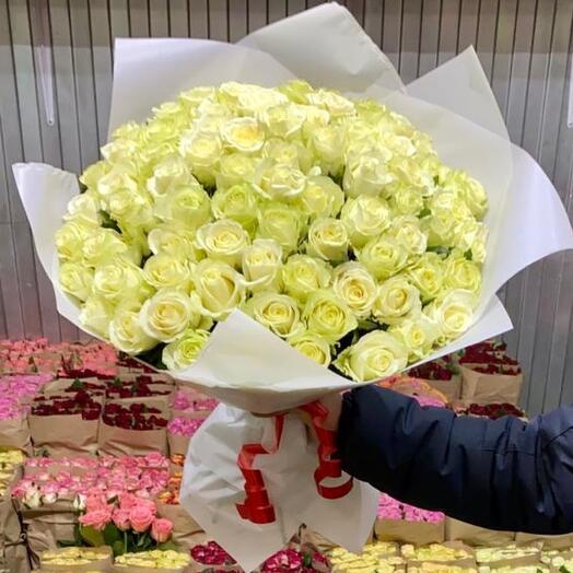 101 Роза 60см белая