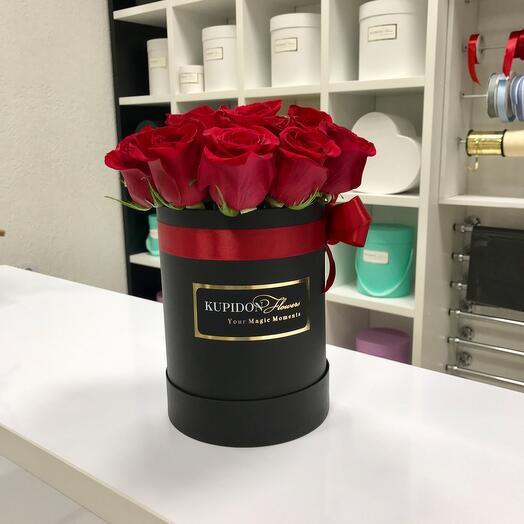 Шляпная коробка на 15 роз