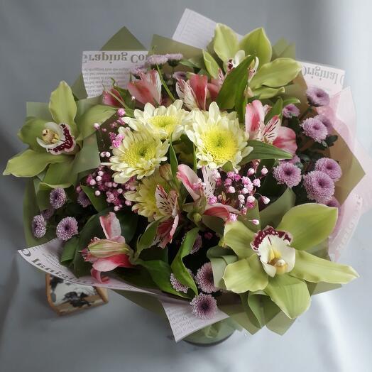 Букет с орхидеями на торжество