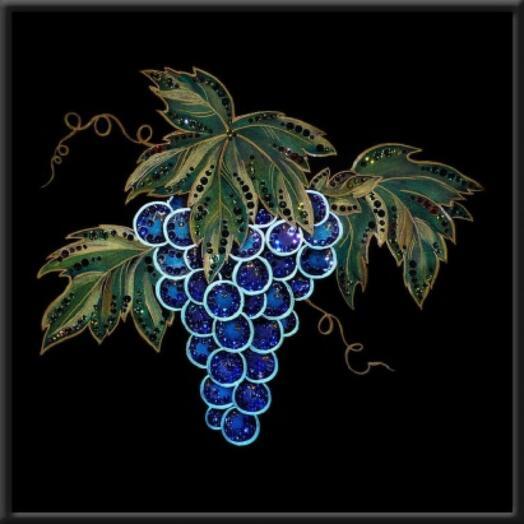 "Картина с кристаллами Swarovski ""Виноград"""