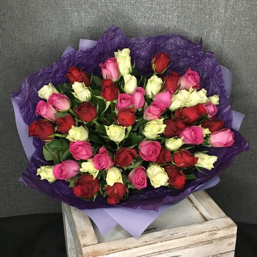 Роза кенийская (40см) 51шт