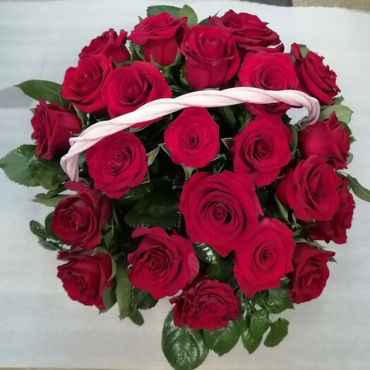 Корзина 21 роза