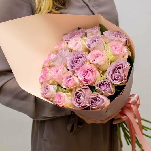 Букет розово-сиреневых роз