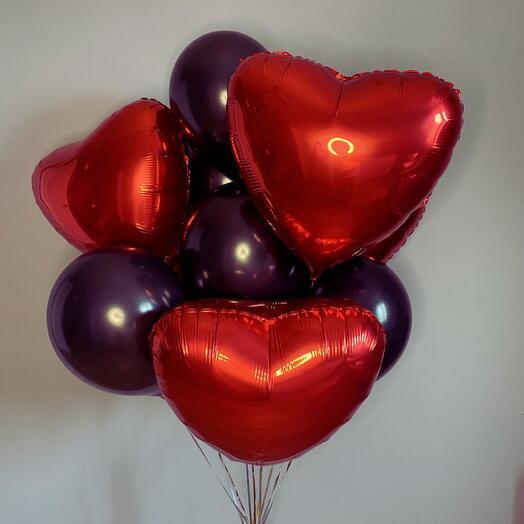 Набор воздушных шаров « В самое сердце »