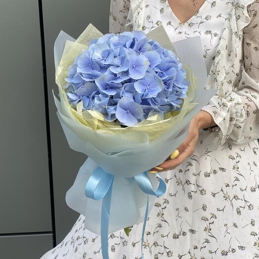 Букет Молли из голубой гортензии