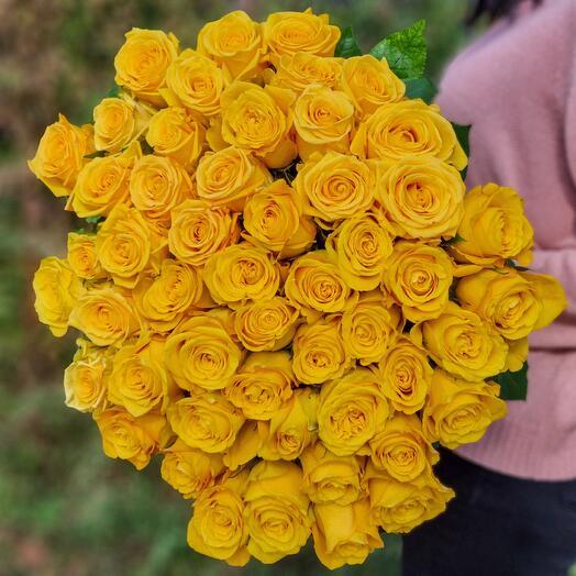 Роза Эквадор 90 см 51 шт