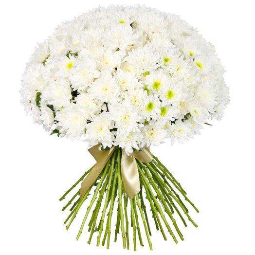 Букет из белых хризантем Айсберг: букеты цветов на заказ Flowwow