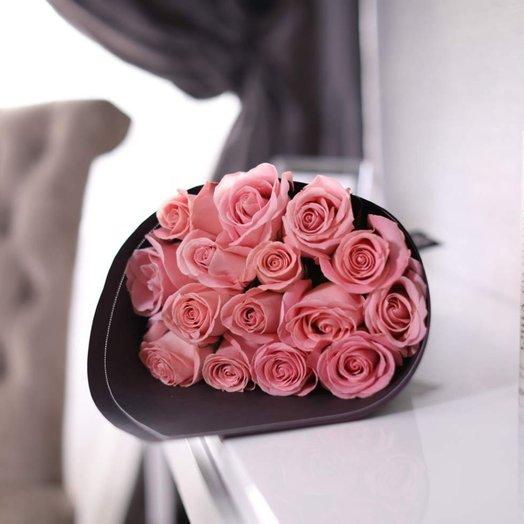 Букет из 15 роз Hermosa: букеты цветов на заказ Flowwow
