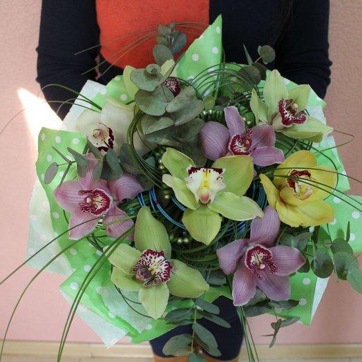 Букет из Орхидей Микс: букеты цветов на заказ Flowwow