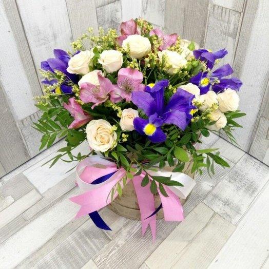 "Цветы в шляпной коробке ""Муза"""