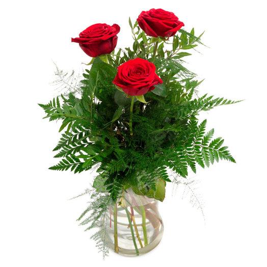 Букет из трех 5 роз значение, красных роз ромашек