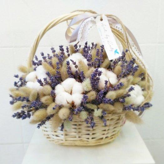Корзина сухоцвет: букеты цветов на заказ Flowwow