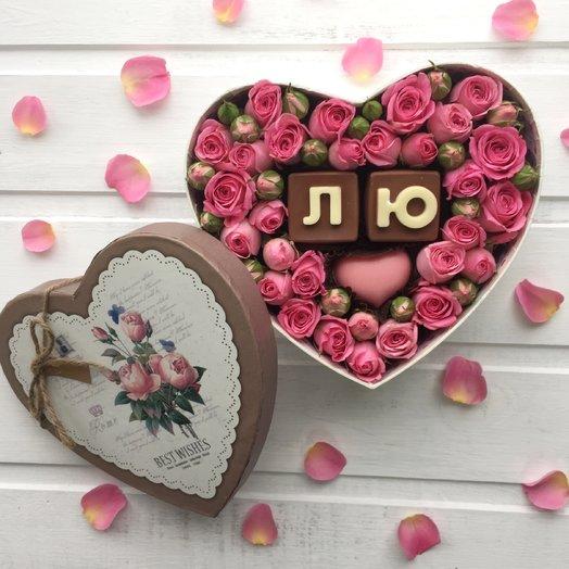 Я тебя лю...: букеты цветов на заказ Flowwow