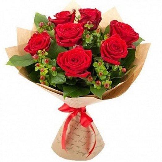 """Букет """"Алый поцелуй"""". Код 1800564: букеты цветов на заказ Flowwow"""