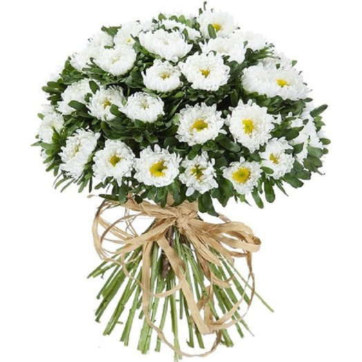 Букет из 31 белой хризантемы: букеты цветов на заказ Flowwow