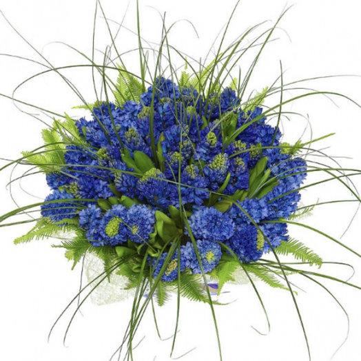 Цвет настроения Синий...: букеты цветов на заказ Flowwow